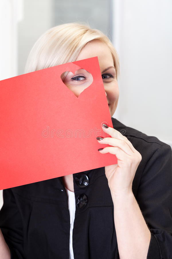 Valentine's Day prepartions. Woman preparing for Valentine's Day stock images
