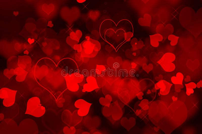 Valentine`s day red hearts background royalty free stock image