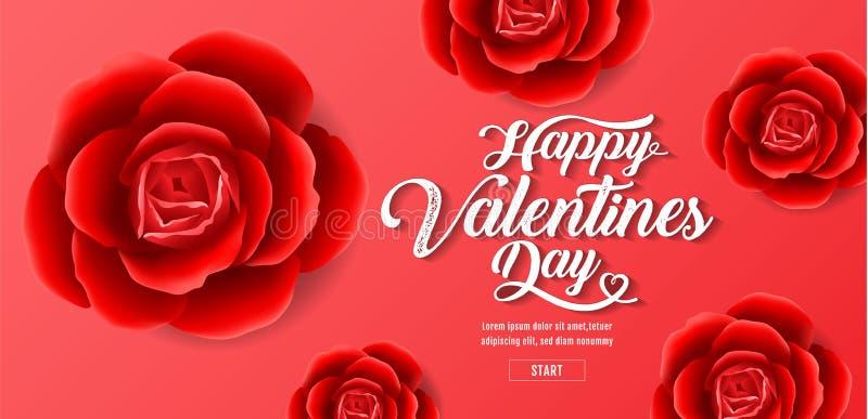 Valentine`s day , Red Roses Background, sale banner , hearts ,vector illustration vector illustration
