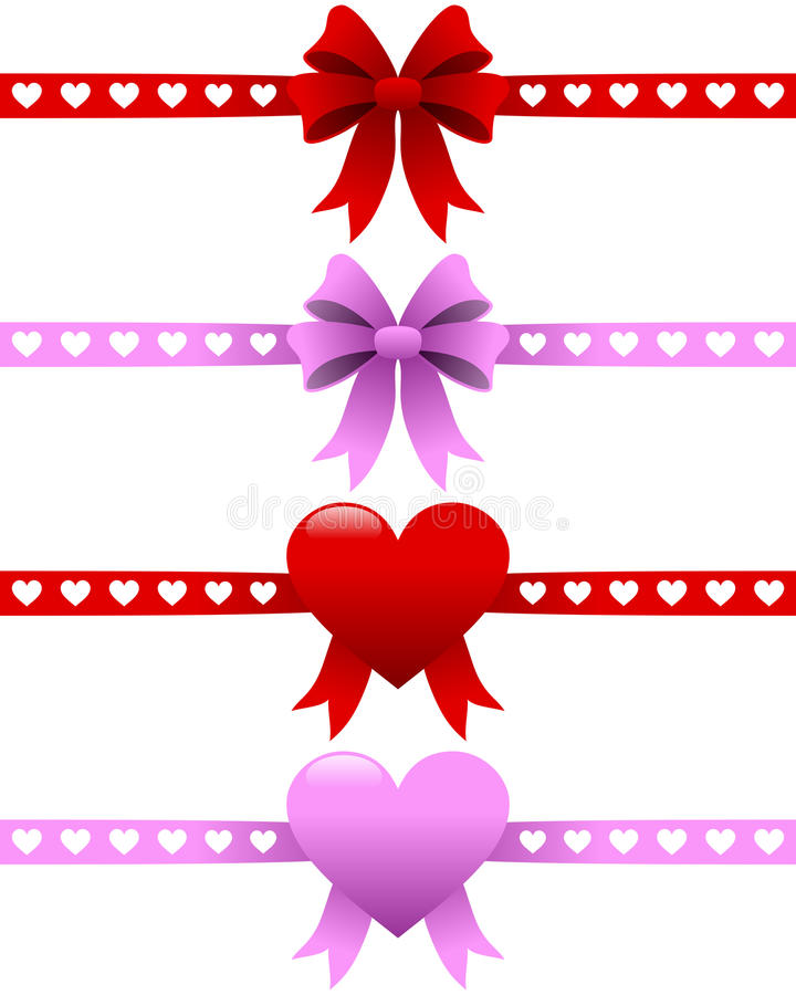 Download Valentine S Day Ribbons Set Stock Vector - Illustration: 27738992