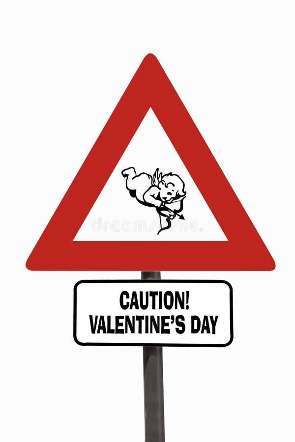 Valentine's Day roadsign royalty free stock photo