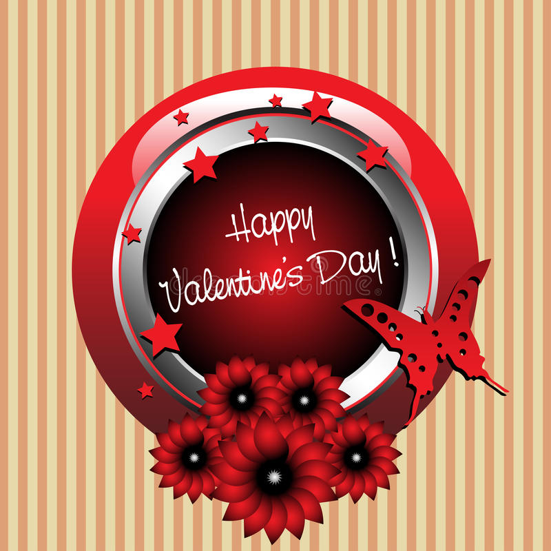 Download Valentine's Day Rounded Frame Stock Vector - Image: 22638576