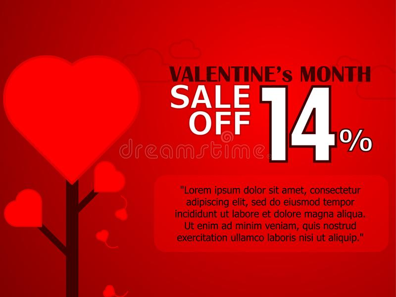 Valentine`s Day sale banner background royalty free stock photo