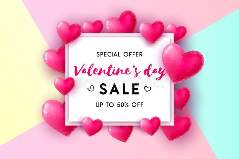 Valentine`s Day sale concept royalty free illustration