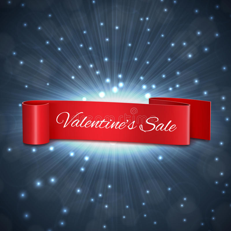 Valentine`s day sale. Tag. EPS10 vector stock illustration