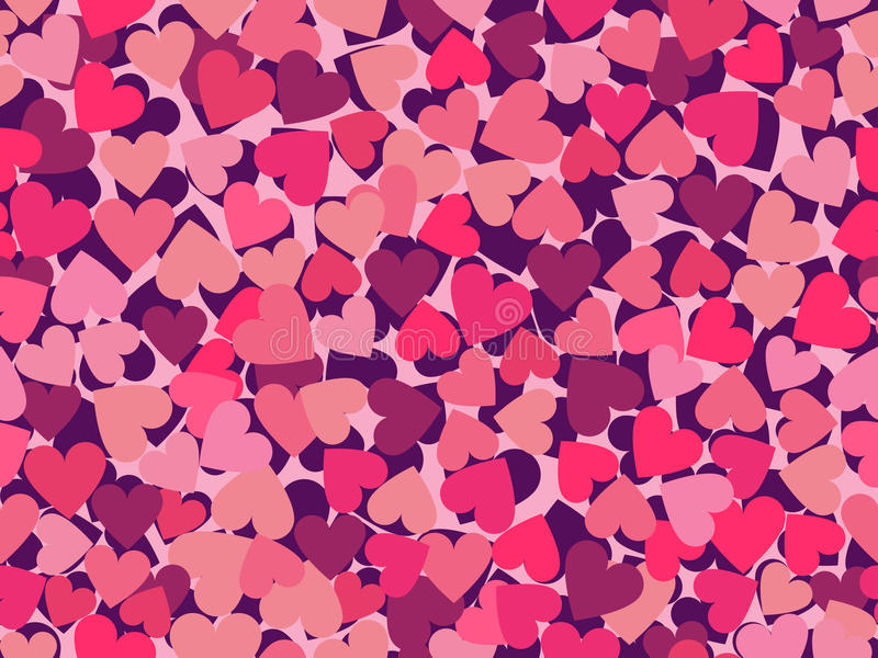 Valentine`s Day. Seamless pattern with hearts. Vector. Illustration vector illustration