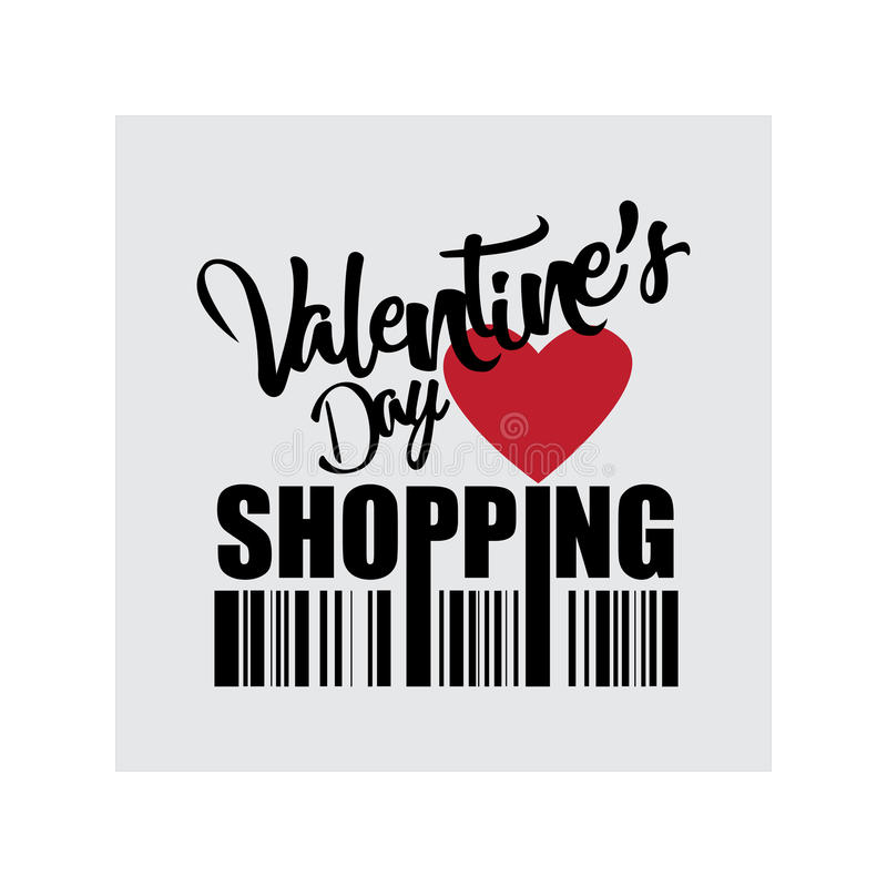Valentine`s Day shopping icon royalty free stock photo
