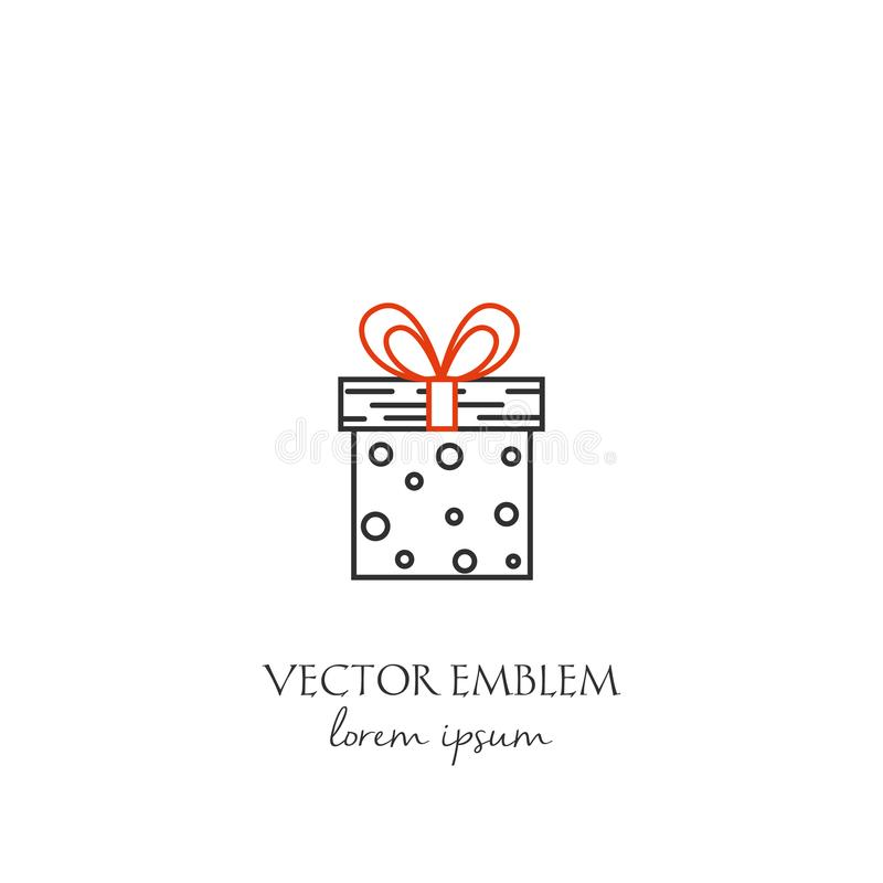 Valentine`s day symbol. Vector Valentine`s day symbol in trendy line style isolated on white background. Gift icon in linear style stock illustration