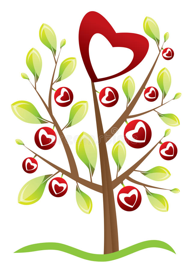 Download Valentine's Day Tree Stock Photography - Image: 10004602