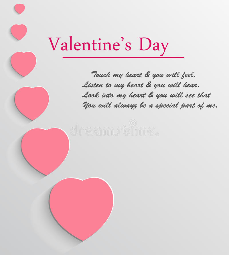 Valentines day vector background royalty free stock image