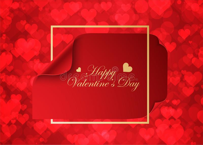Valentine Background, Love Theme Stock Illustration