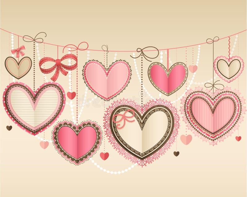 Valentine`s Day Vintage Stock Photo
