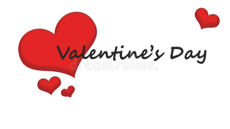 Valentine`s Day Wallpaper with red heart royalty free illustration
