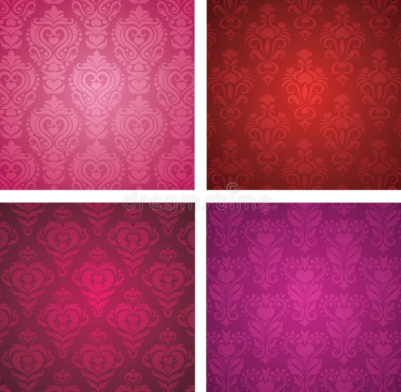 Valentine's day wallpapers. royalty free illustration