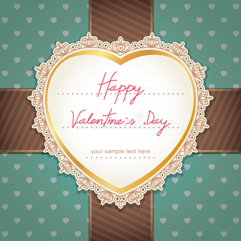 Download Valentines Day Or Wedding Card. Stock Vector - Image: 38955549