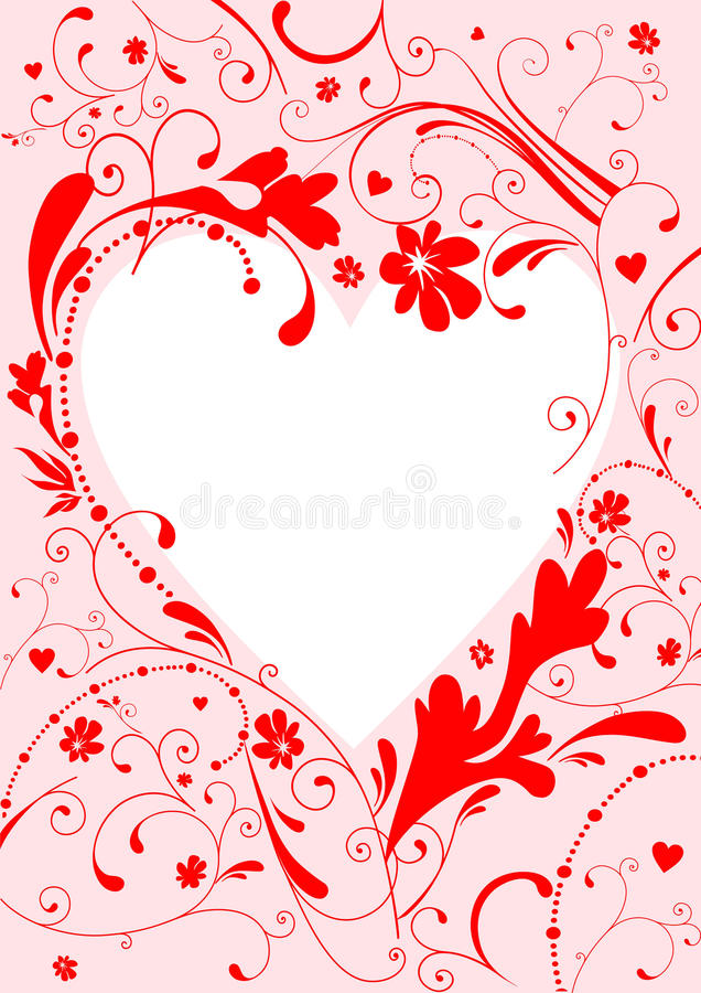 Download Valentine's frame stock vector. Image of greeting, elements - 12544256