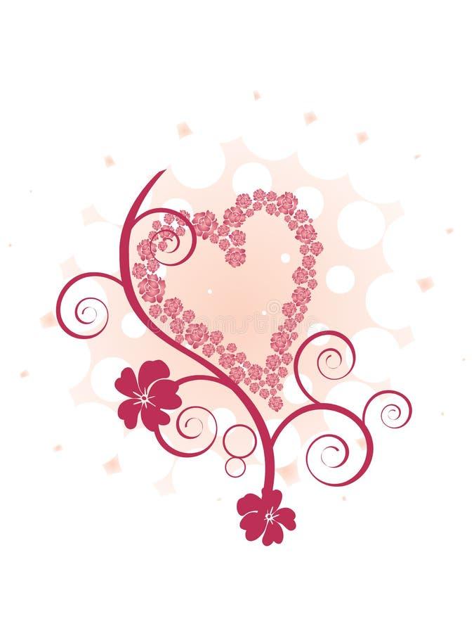 Valentine`s greeting stock illustration