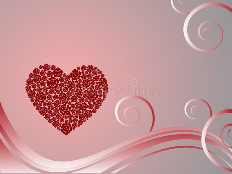 Valentine`s greeting vector illustration