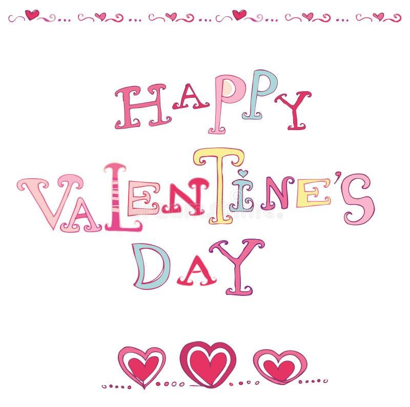 Valentine's heart card royalty free illustration