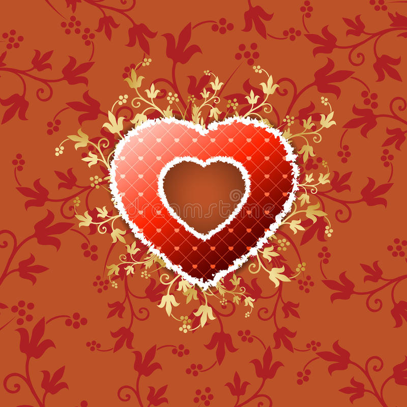 Valentine's Heart with Floral Pattern stock image