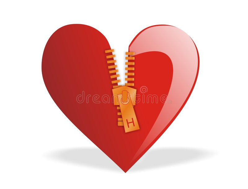 Download Valentine's - Heart Zipped stock vector. Image of couple - 4138513