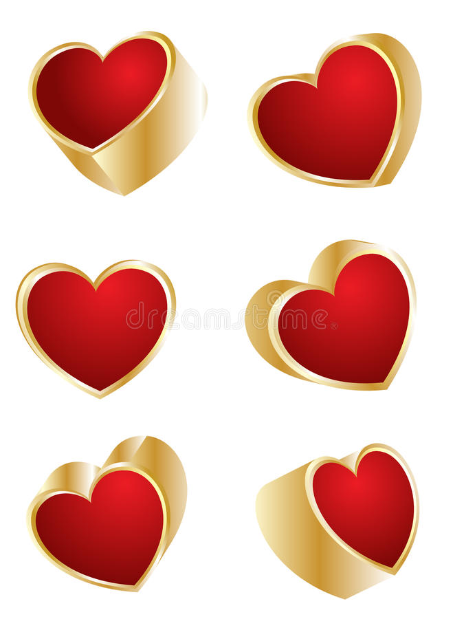 Valentine`s hearts vector illustration