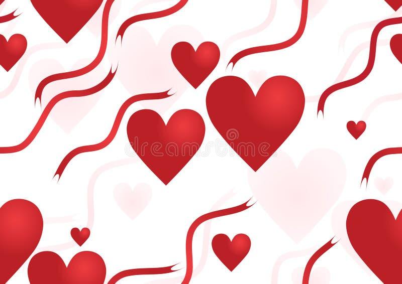 Valentine?s inconsútil ilustración del vector