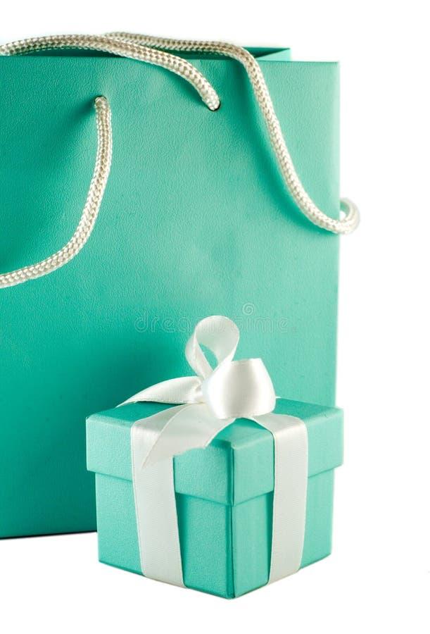 Valentine's present. Gift box and bag