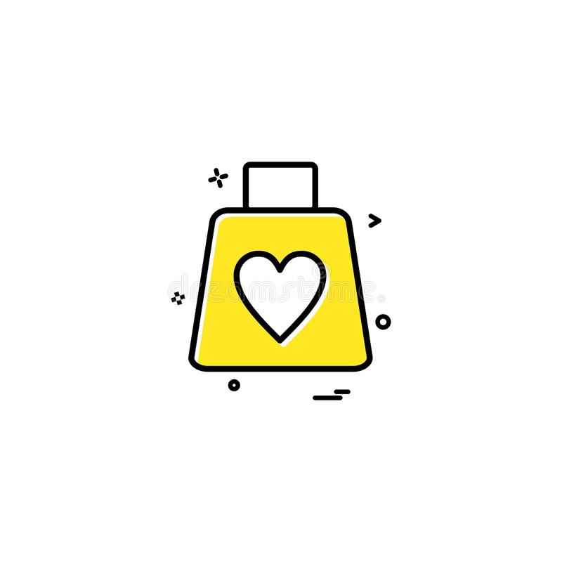 valentine's shopping shopping bag heart icon vector design royalty free illustration