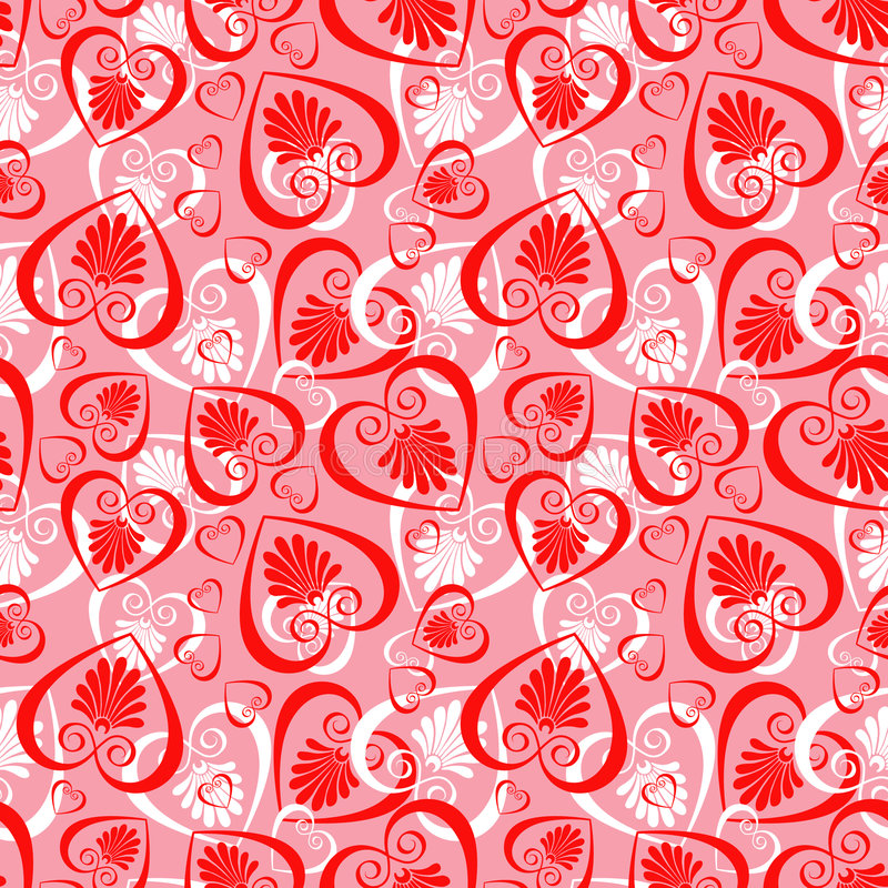 Download Valentine seamless stock photo. Image of texture, vintage - 7932416