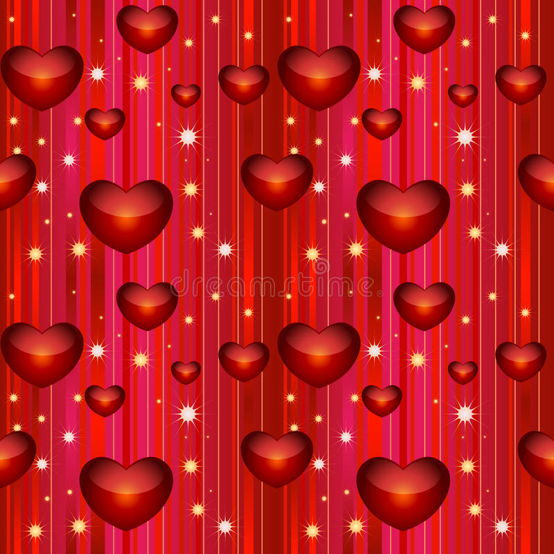 Valentine seamless background. Vector illustration royalty free illustration