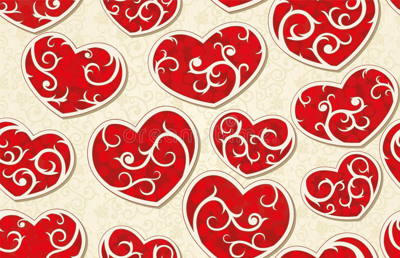 Download Valentine Seamless Background Stock Vector - Image: 22836301