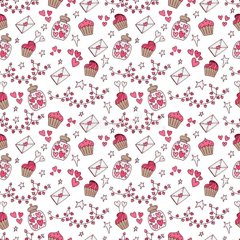 Free Valentine Seamless Pattern Stock Photography - 112687992