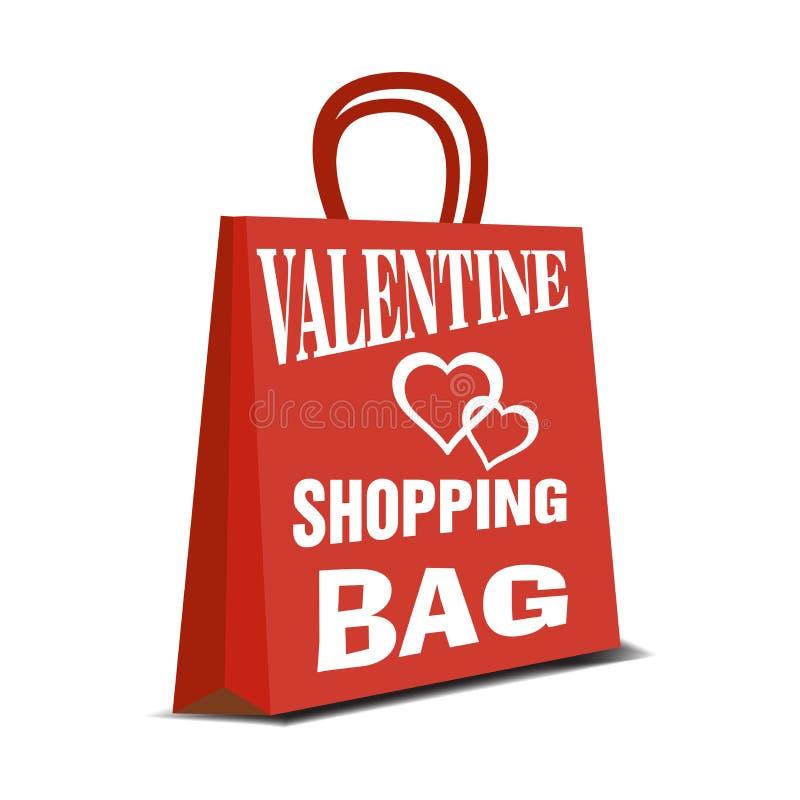 Valentine shopping bag royalty free stock photo