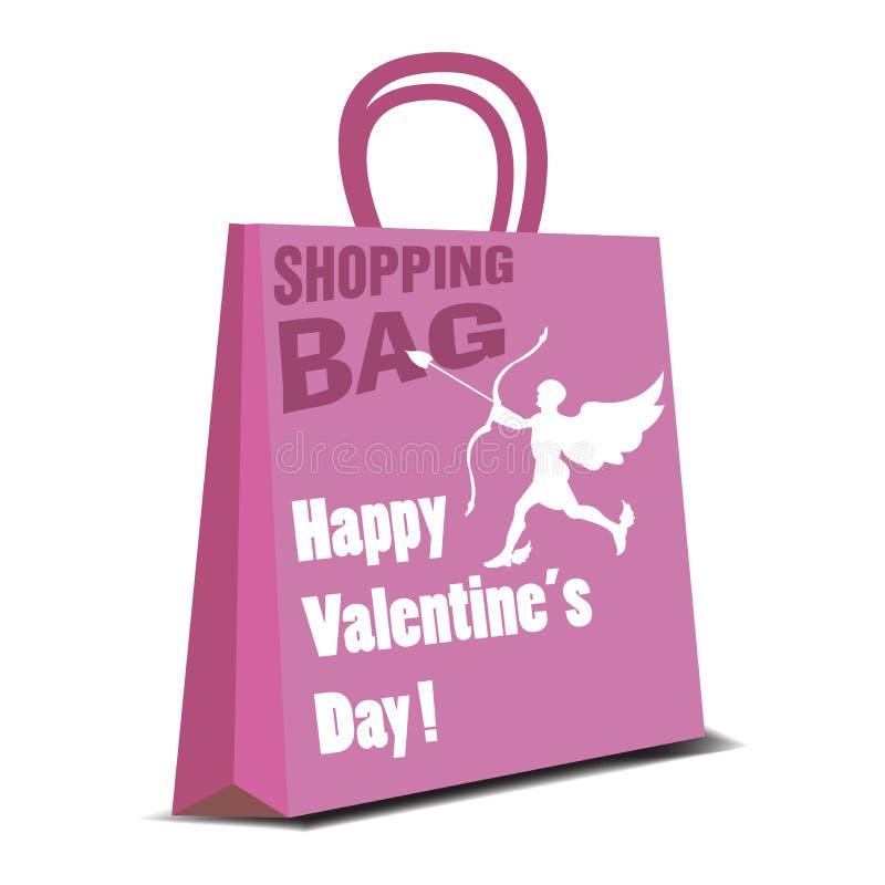 Valentine shopping bag royalty free stock photos
