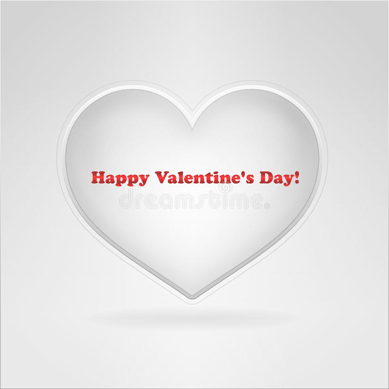 Valentine Simple Card Royalty Free Stock Photography