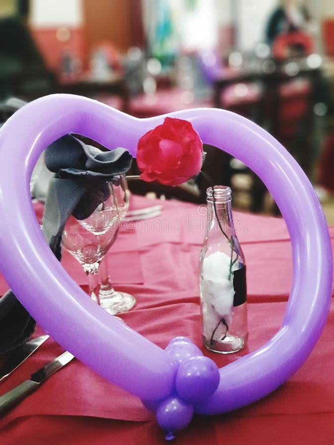 Valentine skład fotografia stock