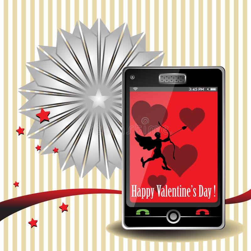 Valentine smartphone stock photography