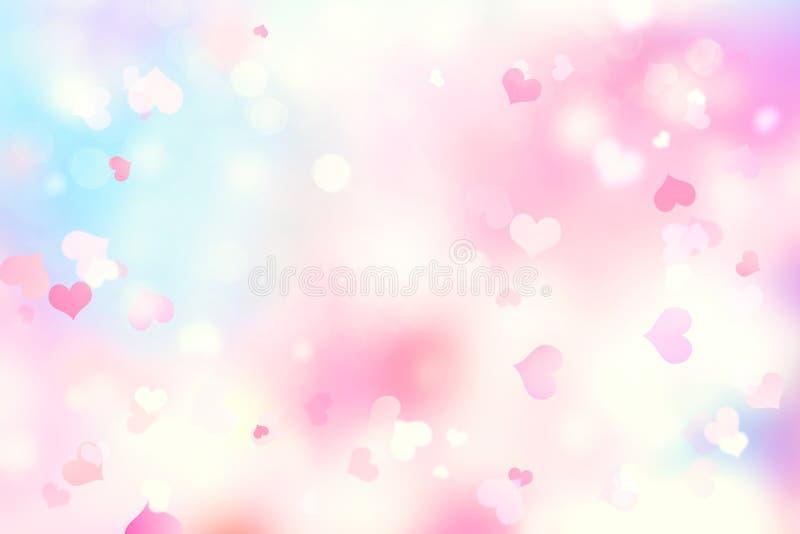 Valentine soft blurred hearts background. vector illustration