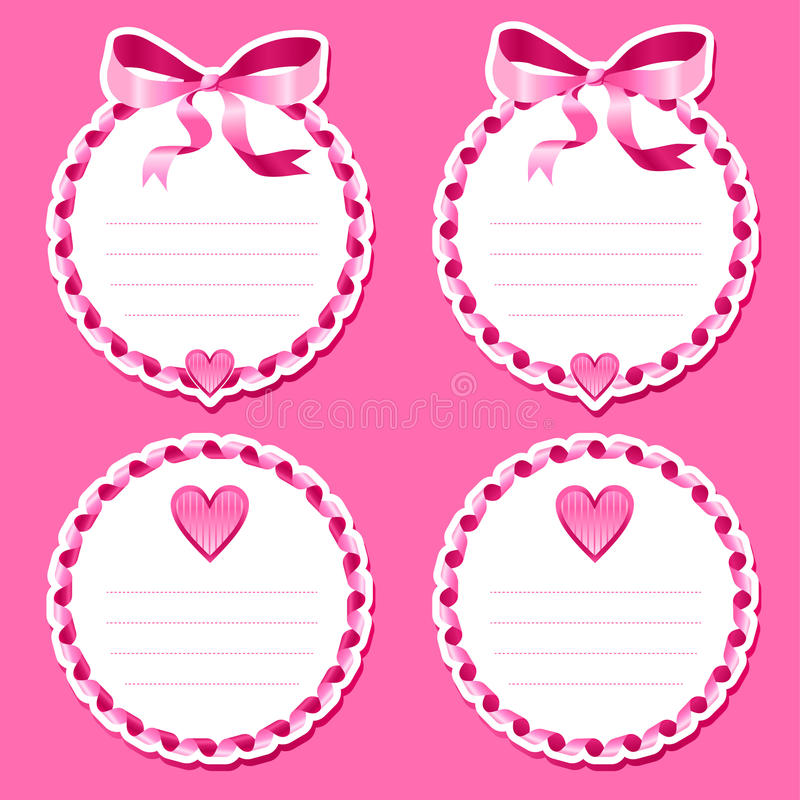 Download Valentine stickers stock image. Image of amour, text - 33578577