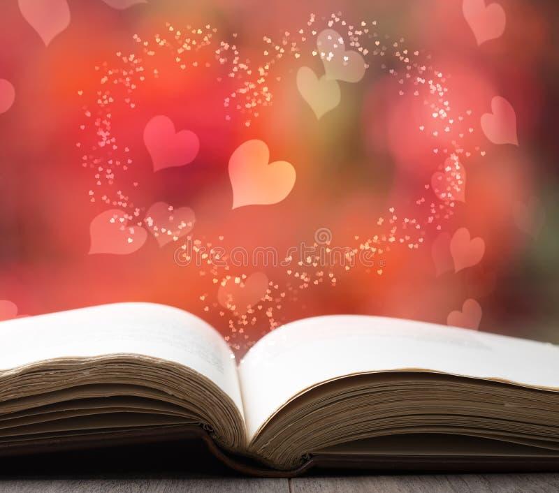 Valentine Story Book royaltyfria bilder