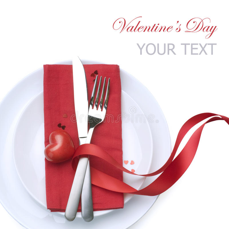 Download Valentine Table Setting stock photo. Image of isolated - 17983510  sc 1 st  Dreamstime.com & Valentine Table Setting stock photo. Image of isolated - 17983510