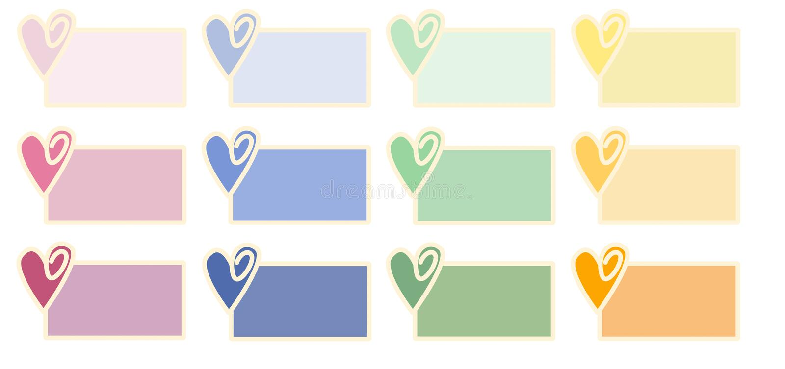 Download Valentine Tags stock illustration. Image of yellow, lilac - 7524190