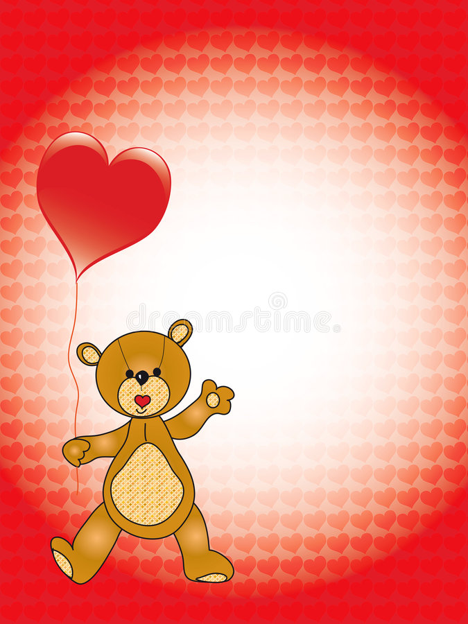 Valentine teddy bear royalty free stock image