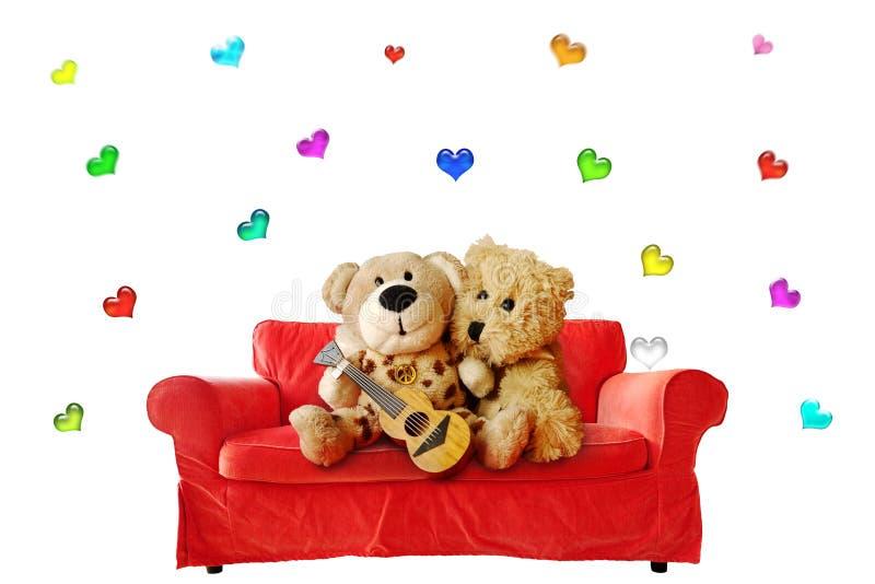 Valentine Teddy Bear Sweethearts foto de stock