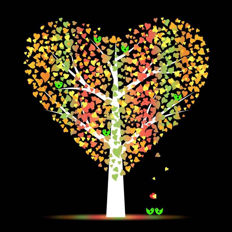 Valentine tree vector illustration