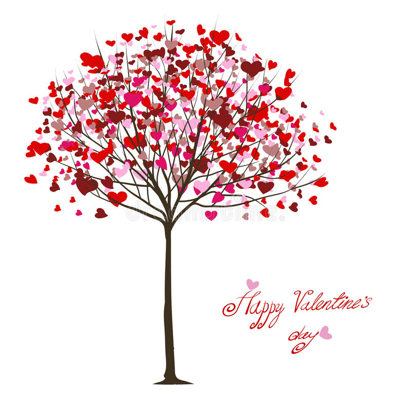 Free Valentine Tree Design Royalty Free Stock Image - 12348486