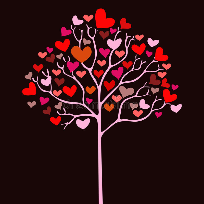Free Valentine Tree With Hearts Royalty Free Stock Photo - 17639975