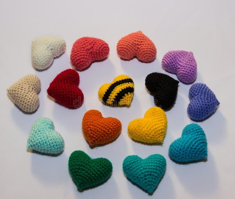 Valentine tricotée multicolore image stock