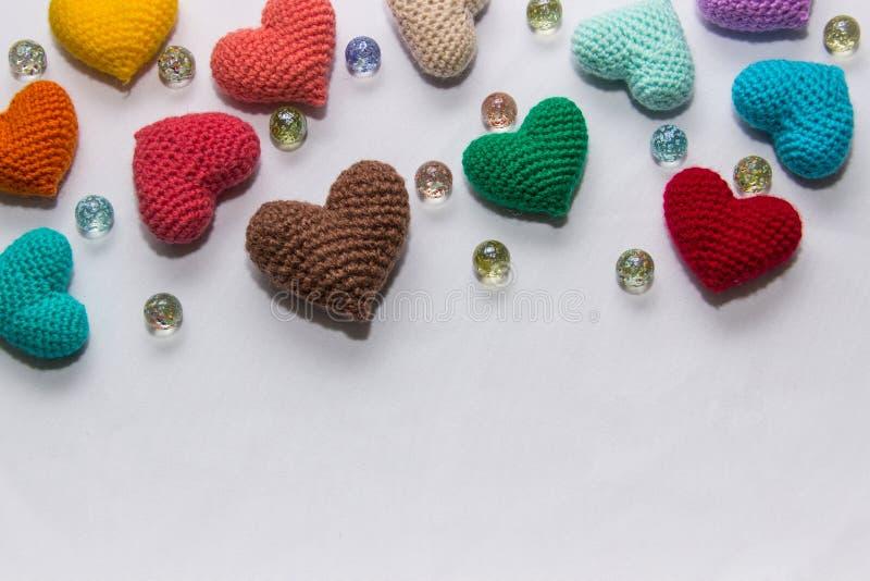 Valentine tricotée multicolore image libre de droits